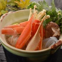 ◆あったかカニ鍋は冬限定の季節メニュー