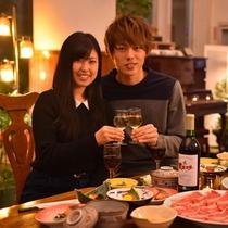 ◆カップルプラン/ご夕食はワインで乾杯♪