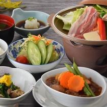 【カジュアルプラン】豚肉陶板焼き+山形牛ビーフシチュー