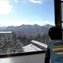 客室窓からの風景(冬)