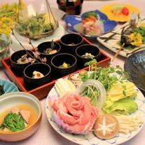 春の会席料理イメージ