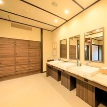 【大浴場】脱衣スペース