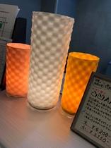 山梨の伝統工芸『西嶋和紙』で作られたその名も『凸凹あかり』