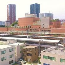 ホテルからアクトシティと浜松駅