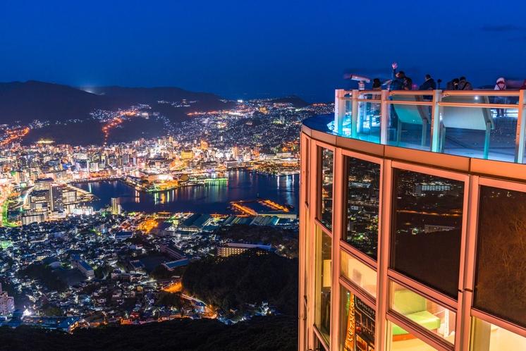 日本三大夜景・稲佐山から