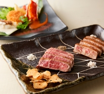 【鉄板焼ひだ】お料理一例