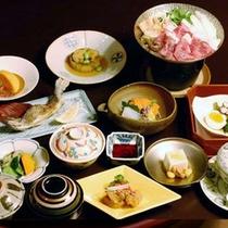 【食事】旬の会席・地場の食材を使った会席料理です