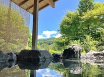 【露天風呂】男風呂露天からの風景。