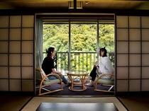 【2階和室】客室から望む長瀞渓谷の自然を堪能♪