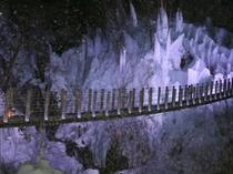 【秩父氷柱】尾ノ内渓谷・車50分★小鹿野町にある氷柱スポット。吊橋がありロケーションGOODです