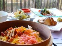 春のご夕食会席料理イメージ。