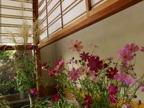 【玄関】「花のおもてなし」旅館として館内には旬のお花が沢山生けてあります♪