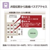 JR高松駅からのアクセス