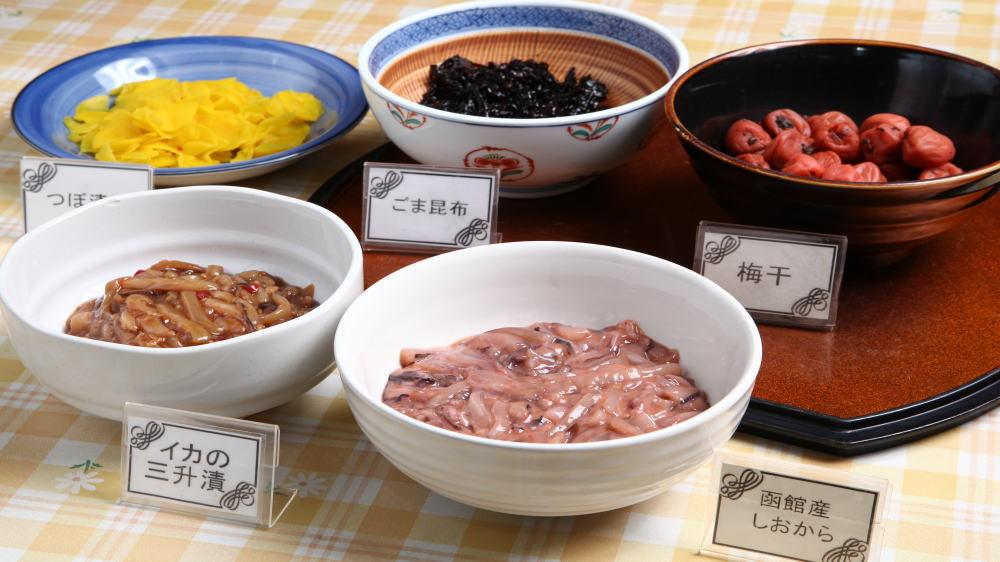 朝食バイキングメニュー(ご飯のお供)