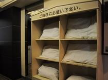 【枕貸出サービス】数種類の枕からお好きなものをお選びいただけます。