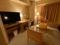 【禁煙ツインルーム】客室風景 広さ22.28㎡