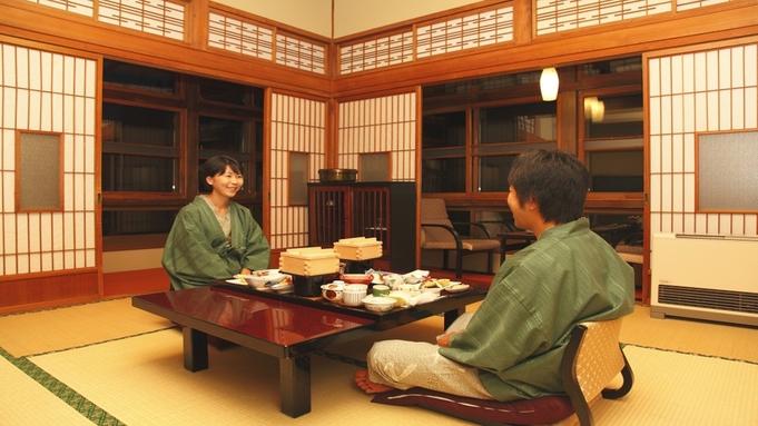 【おこもりプラン】昭和16年木造建築で過ごす 部屋食の特典付 花巻産白金豚の季節鍋「梅膳」