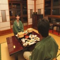 2009.7特別室26号室お食事風景