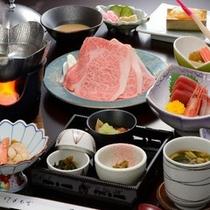 花巻産白金豚(プラチナポーク)使用の季節の鍋膳(2012.1)