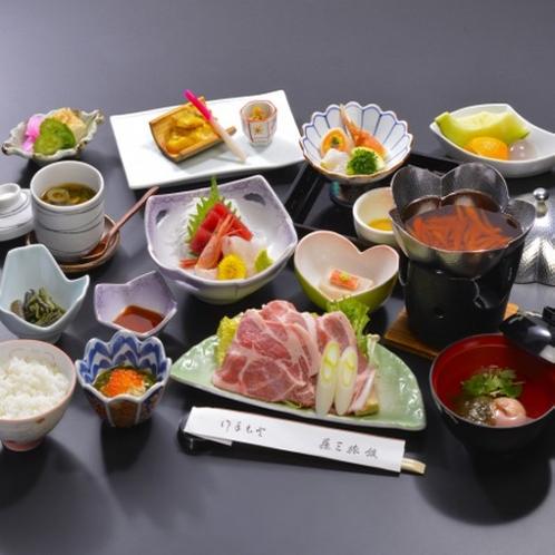 【「梅」膳・花巻産白金豚の季節鍋付】