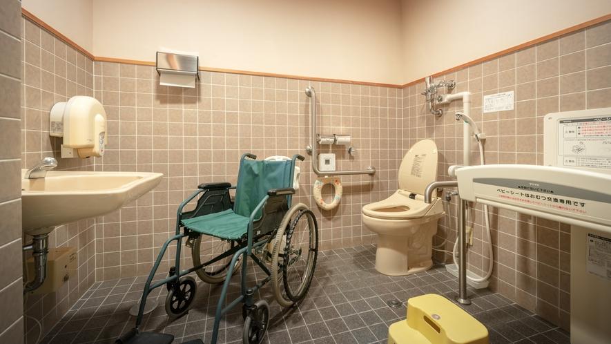 多目的トイレ(4F) ※ケアクリック・ベビーシート・ベビーキープをご用意しております