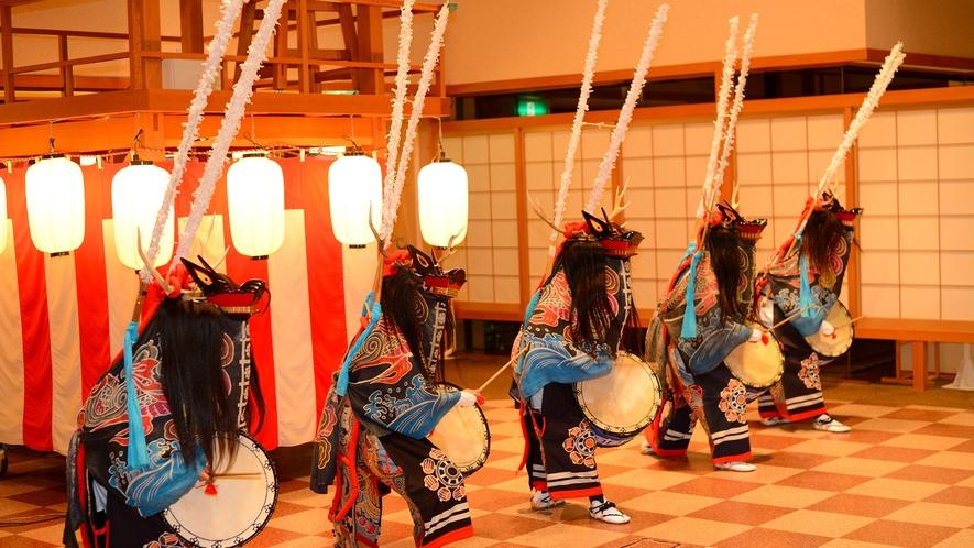 お祭り広場(鹿踊り一例) ※各種イベントをお日にち限定で開催しております