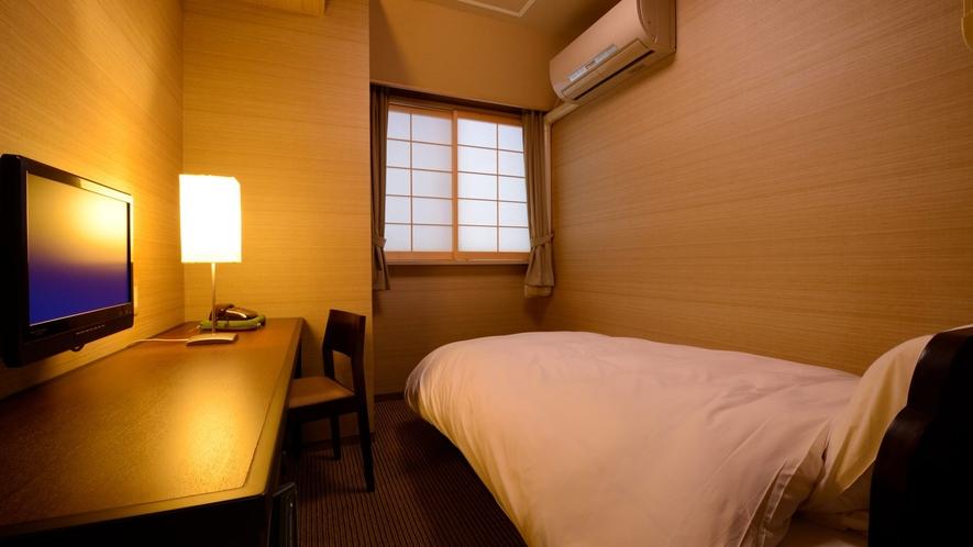 シングルルーム(禁煙) ※景色は楽しめませんが、リーズナブルにご利用いただけるお部屋です