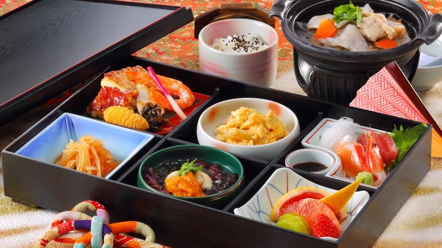 松花堂弁当 ※日帰り温泉を昼食付きで楽しめるプランでお申し込みください