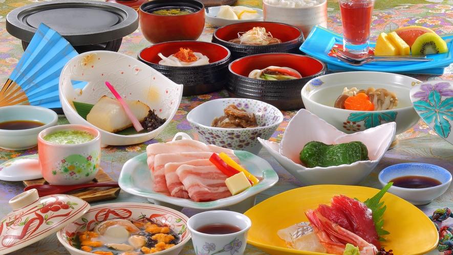 和膳スタイル料理一例(夏頃のお料理)