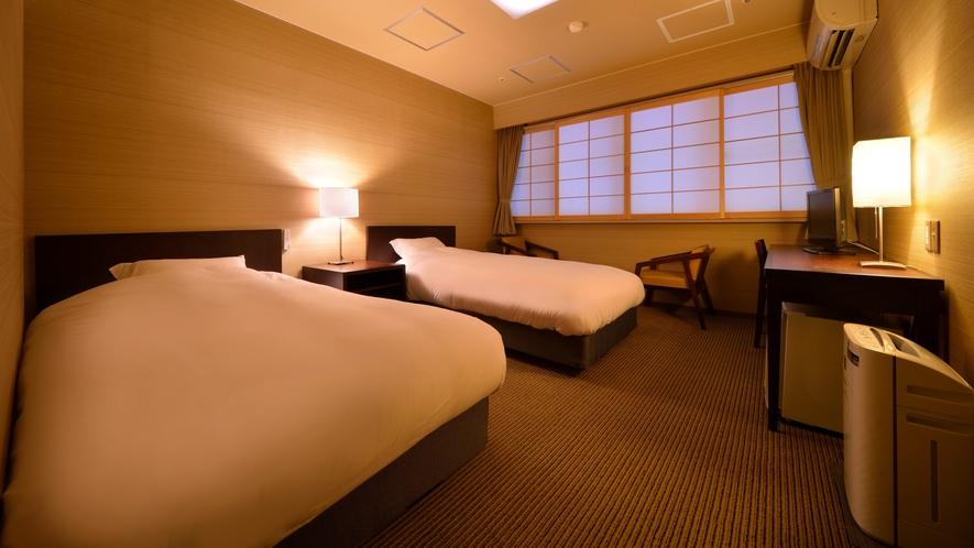 ツインルーム(禁煙) ※景色は楽しめませんが、リーズナブルにご利用いただけるお部屋です