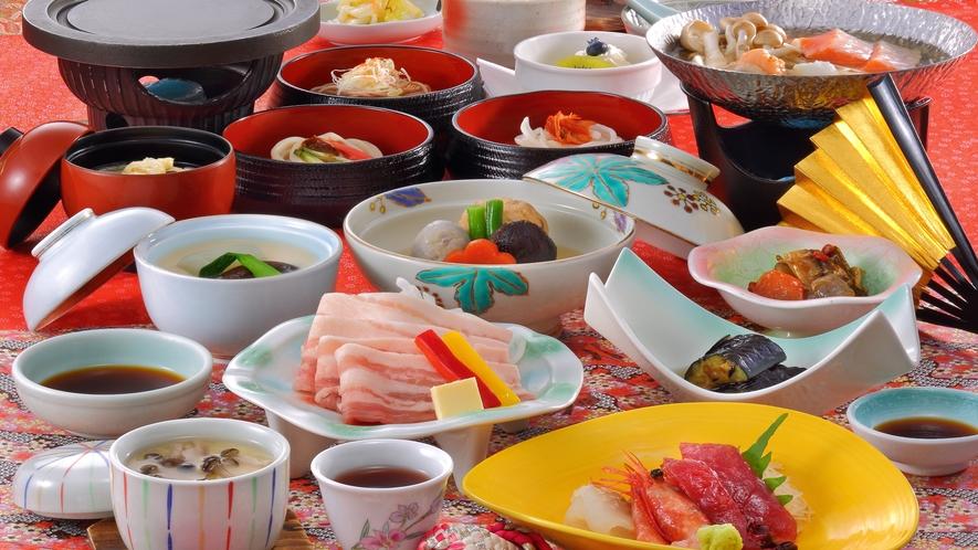 和膳スタイル料理一例(秋頃のお料理)