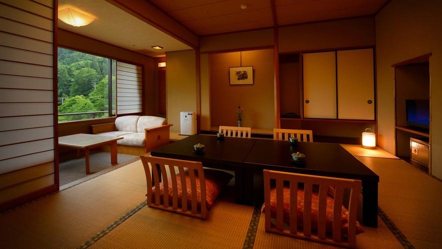 花かんむり10畳(禁煙) ※窓からの絶景を楽しみたい方には、こちらのお部屋がおすすめです