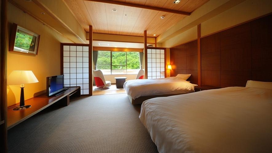 マッサージチェア付ツイン(禁煙) 225号室 ※カップル・ご夫婦でのご旅行、女子旅におすすめのお部屋