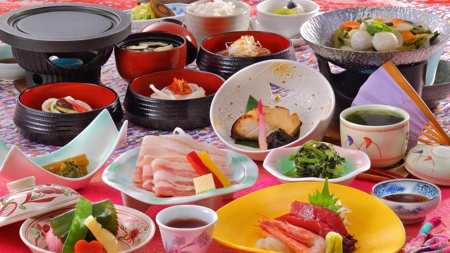 和膳スタイル料理一例(春頃のお料理)