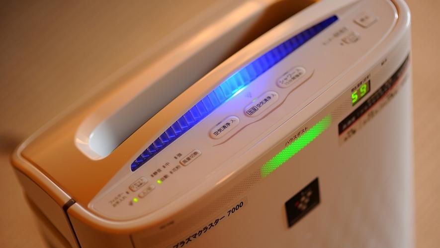 「加湿空気清浄機」(SHARP製「高濃度プラズマクラスター」)を全客室に導入しております