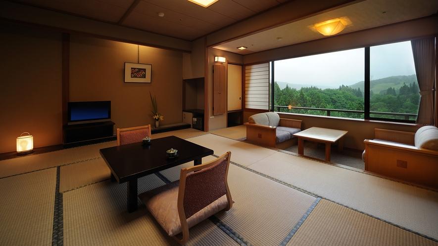 花かんむり10畳(禁煙) ※和室10畳の広さに加え応接セットをしつらえた純和風のお部屋です