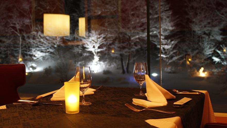 【レストラン】メインダイニングルーム(冬眺望)