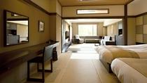 ◆和洋室/広さ50平米以上のしつらえで、ゆっくりと心地よくお過ごしいただけるお部屋(客室一例)