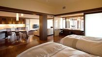 ◆【露天風呂付】特別室/ベッドルームの他、和室も備えています(客室一例)