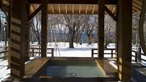 ◆足湯「草々の湯」(冬)/中庭には、自由にご利用いただける足湯がございます。