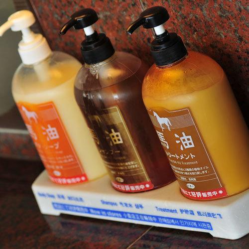 【大浴場】髪のツヤが良くなると評判の馬油。大浴場で体験してみてください♪