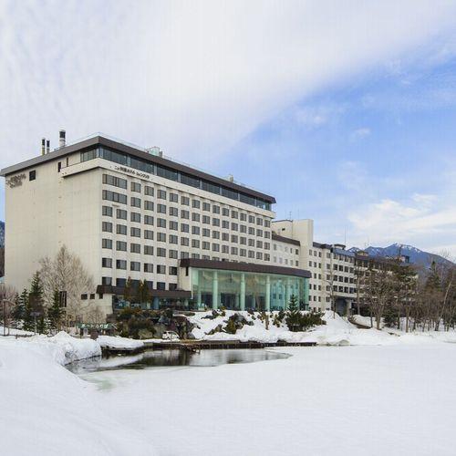 【ホテル外観】ニュー阿寒ホテル(冬)