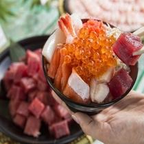 【朝食バイキング】お好み海鮮丼