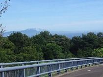 池の郷橋から見える大島
