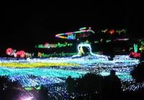 ぐらんぱる公園グランドイルミ・日本初110mの虹のイルミネーションスライダー