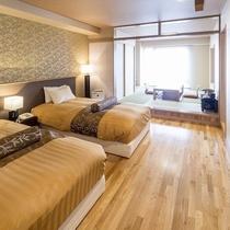 [紅梅・牡丹・菖蒲]:ツインルーム+6帖和室