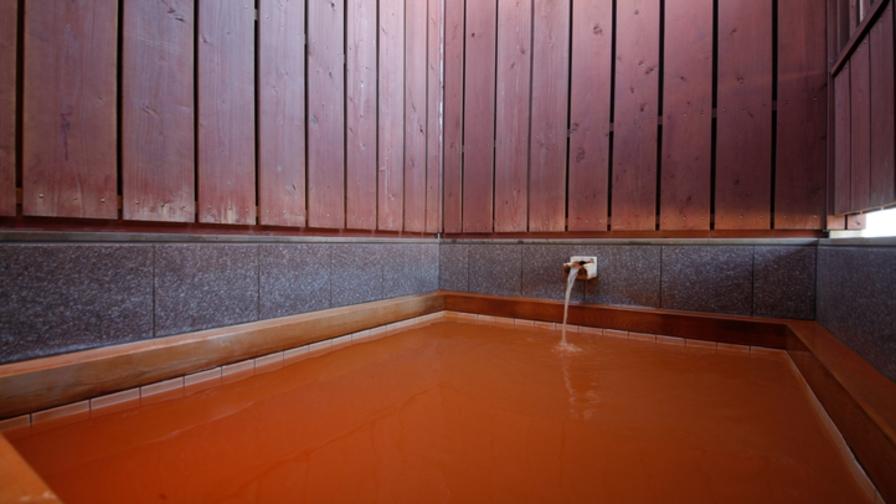 【檜の香りに癒されて】☆展望金泉貸切露天風呂で優雅な一時を♪「金泉」!