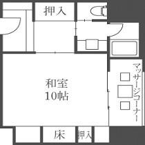 【禁煙室】10畳+2畳「平面図」