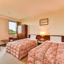 *【ツイン】25.3平米のお部屋。心地良い空間が旅の疲れを癒してくれます。