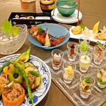 *夏のスペシャルディナー(2016/08~和食/料理一例)